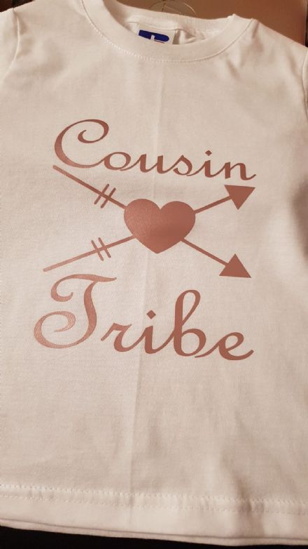 Personalised Kids Cousin Tribe Short Sleeved T-Shirt